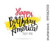 happy birthday america. 4th of... | Shutterstock .eps vector #595362533