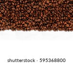 coffee beans isolated on white... | Shutterstock . vector #595368800
