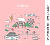 incheon line layer set | Shutterstock .eps vector #595373384