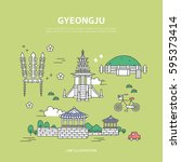 gyeongju line layer set | Shutterstock .eps vector #595373414