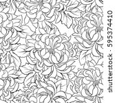 seamless pattern with... | Shutterstock .eps vector #595374410