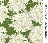 seamless pattern with white... | Shutterstock .eps vector #595374458