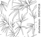 seamless pattern with bamboo in ... | Shutterstock .eps vector #595374518
