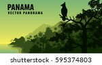 Vector Panorama Of Panama With...