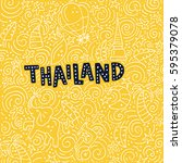 illustration of thailand with... | Shutterstock .eps vector #595379078