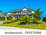 big custom made luxury house...   Shutterstock . vector #595379084