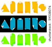 set stickers with 2 layers and... | Shutterstock .eps vector #59538076