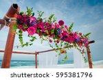 Beach Wedding Flowers Setting
