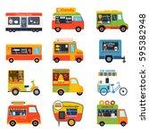street food festival color... | Shutterstock .eps vector #595382948
