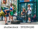 new york city  usa   august 11 ... | Shutterstock . vector #595394180