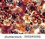 the beautiful of art fabric... | Shutterstock . vector #595395590