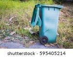 old plastic plastic trash... | Shutterstock . vector #595405214
