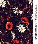 the beautiful of art fabric... | Shutterstock . vector #595409318
