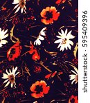 the beautiful of art fabric... | Shutterstock . vector #595409396