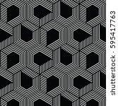 white and black pattern...   Shutterstock .eps vector #595417763