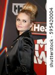 alli simpson at the 2017... | Shutterstock . vector #595420004