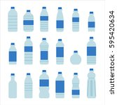 water bottle for health vector... | Shutterstock .eps vector #595420634