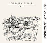 tiruchirappalli  trichy   tamil ... | Shutterstock .eps vector #595423370