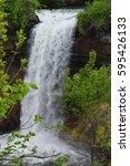 minnehaha waterfall park... | Shutterstock . vector #595426133
