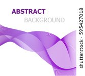 purple line wave abstract... | Shutterstock .eps vector #595427018