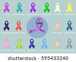 ribbon pack campaign against...   Shutterstock .eps vector #595433240