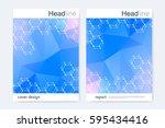 scientific brochure design... | Shutterstock .eps vector #595434416