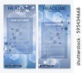 leaflet flyer layout. magazine... | Shutterstock .eps vector #595434668