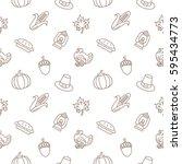thanksgiving day background... | Shutterstock .eps vector #595434773