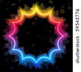 vector   rainbow star border... | Shutterstock .eps vector #59543776