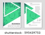 abstract vector layout... | Shutterstock .eps vector #595439753