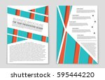 abstract vector layout...   Shutterstock .eps vector #595444220