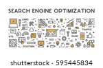 line concept for search engine...   Shutterstock . vector #595445834