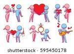 vector set of cartoon images of ... | Shutterstock .eps vector #595450178