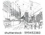 sketch streaks all day  ... | Shutterstock .eps vector #595452383