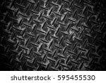 dark grey seamless metal... | Shutterstock . vector #595455530