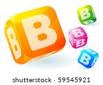 glossy transparent vector abc... | Shutterstock .eps vector #59545921