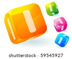 glossy transparent vector abc... | Shutterstock .eps vector #59545927