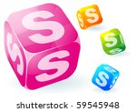 glossy transparent vector abc... | Shutterstock .eps vector #59545948