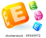 glossy transparent vector abc... | Shutterstock .eps vector #59545972