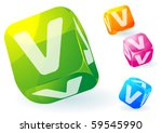 glossy transparent vector abc...   Shutterstock .eps vector #59545990