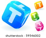 glossy transparent vector abc...   Shutterstock .eps vector #59546002