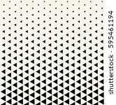 geometric triangle halftone... | Shutterstock .eps vector #595461194