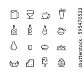 icon food and drink  vector | Shutterstock .eps vector #595470533