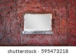 message frame in red brick wall