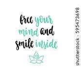 modern calligraphy style... | Shutterstock .eps vector #595473698