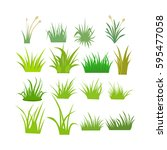 Set Of Grass Vector With Style...