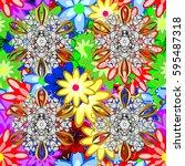 motley vector illustration....   Shutterstock .eps vector #595487318