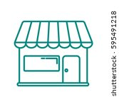 store icon flat. | Shutterstock .eps vector #595491218