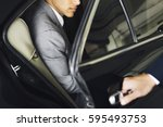 Hand Open Car Door Businessman
