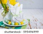 easter bunny gift bag   Shutterstock . vector #595496999